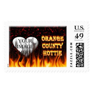 Fuego del hottie del Condado de Orange y mármol Sellos
