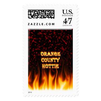 Fuego del hottie del Condado de Orange y mármol Sellos Postales