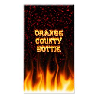 Fuego del hottie del Condado de Orange y mármol Tarjetas De Visita