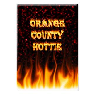 Fuego del hottie del Condado de Orange y mármol Tarjetas De Visita Grandes
