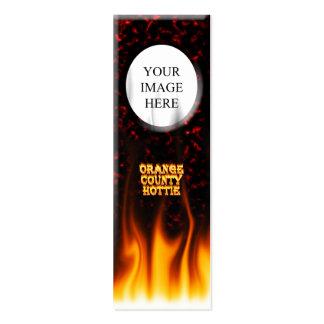 Fuego del hottie del Condado de Orange y mármol Tarjetas De Visita Mini