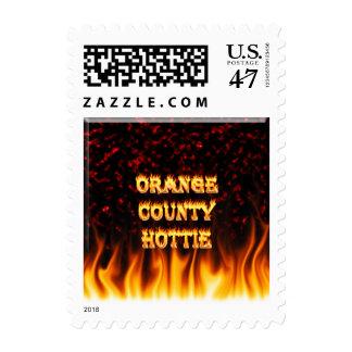 Fuego del hottie del Condado de Orange y mármol Timbre Postal