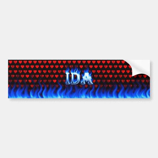 Fuego del Ida y diseño azules de la pegatina para  Pegatina Para Auto