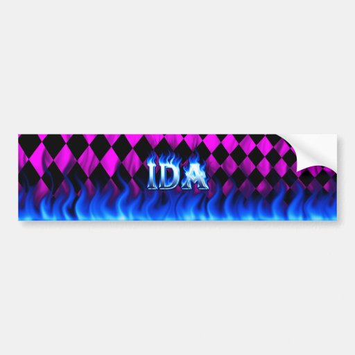 Fuego del Ida y diseño azules de la pegatina para  Etiqueta De Parachoque