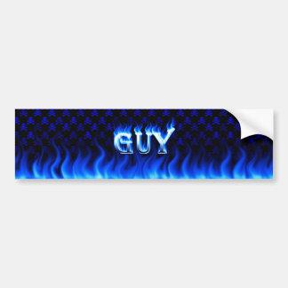 Fuego del individuo y diseño azules de la pegatina pegatina para auto