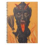 Fuego del infierno de la escoba de Krampus Cuaderno