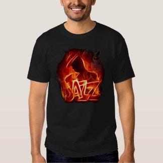 Fuego del jazz remeras