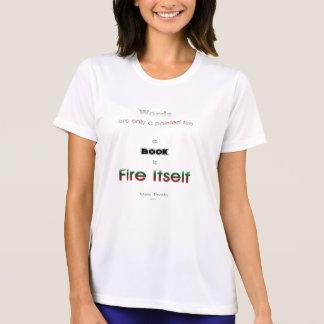 Fuego del libro camiseta