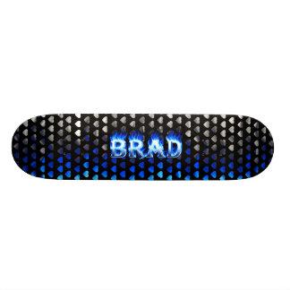 Fuego del monopatín de Brad y diseño azules de las