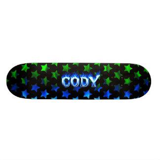 Fuego del monopatín de Cody y diseño azules de las