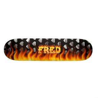 Fuego del monopatín de Fred y diseño de las llamas