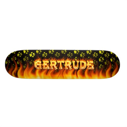 Fuego del monopatín de Gertrudis y diseño de las l Patinetas Personalizadas