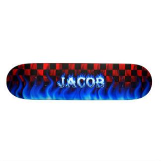 """Fuego del monopatín de Jacob y diseño azules de la Patineta 7 3/4"""""""