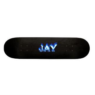 Fuego del monopatín de Jay y diseño azules de las  Tablas De Skate