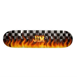 Fuego del monopatín de Jim y diseño de las llamas