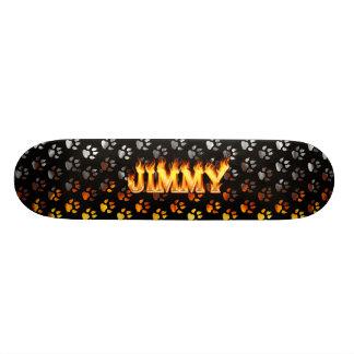 Fuego del monopatín de Jimmy y diseño de las llama