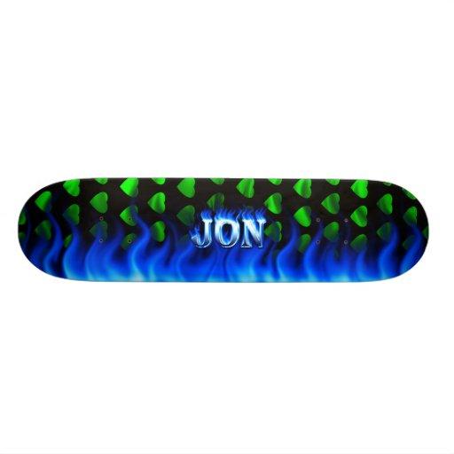 Fuego del monopatín de Jon y diseño azules de las