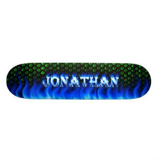 Fuego del monopatín de Jonatán y diseño azules de  Patin