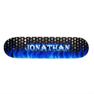 Fuego del monopatín de Jonatán y diseño azules de