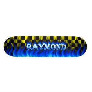 Fuego del monopatín de Raymond y diseño azules de  Skateboards
