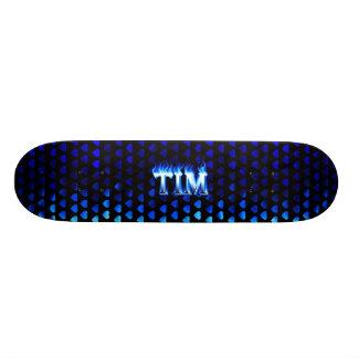 Fuego del monopatín de Tim y diseño azules de las