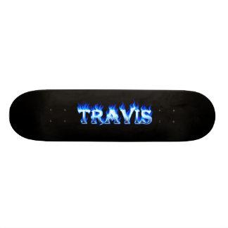 Fuego del monopatín de Travis y diseño azules de l