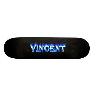 Fuego del monopatín de Vincent y diseño azules de