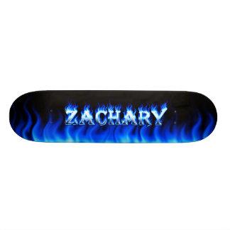 Fuego del monopatín de Zacarias y diseño azules de