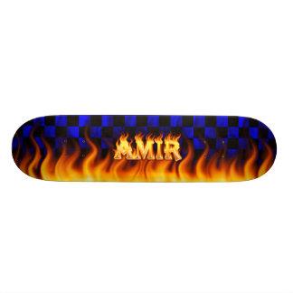 Fuego del monopatín del emir y diseño azules de la