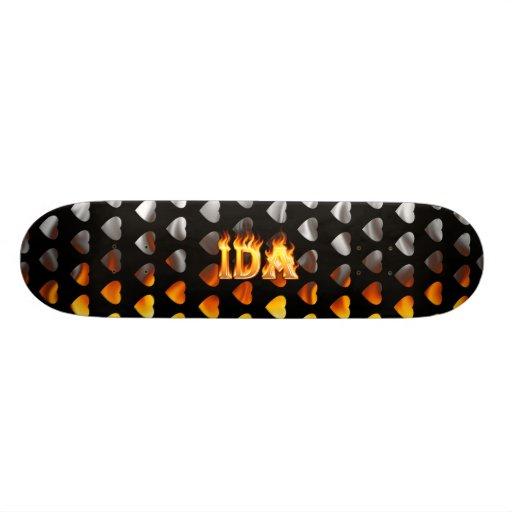 Fuego del monopatín del Ida y diseño de las llamas
