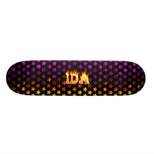 Fuego del monopatín del Ida y diseño de las llamas Patineta Personalizada