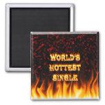 Fuego del mundo el solos y rojo más calientes de l imanes para frigoríficos