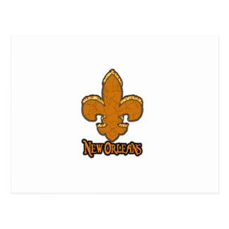 Fuego del negro del oro de Flor New Orleans de la  Postales