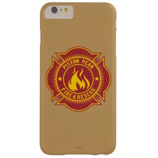 Fuego del pistón y insignia máximos del rescate funda barely there iPhone 6 plus