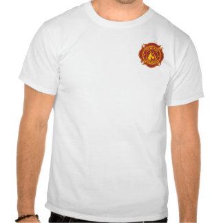 Fuego del pistón y insignia máximos del rescate camisetas
