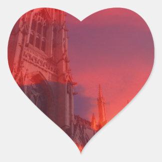 Fuego del púlpito pegatina en forma de corazón