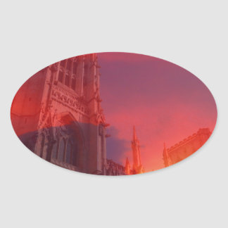 Fuego del púlpito colcomanias ovaladas