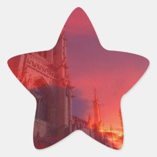Fuego del púlpito calcomanías forma de estrellaes personalizadas