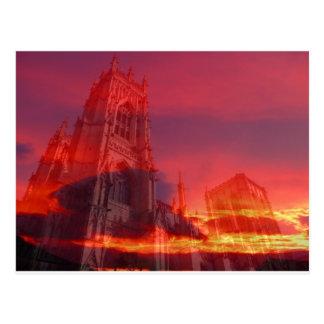 Fuego del púlpito tarjetas postales