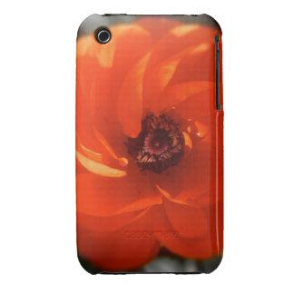 Fuego del ranúnculo iPhone 3 carcasas