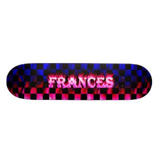 Fuego del rosa del monopatín de Frances y diseño d Tablas De Patinar