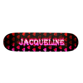 Fuego del rosa del monopatín de Jacoba y diseño de Tabla De Skate
