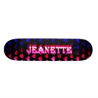 Fuego del rosa del monopatín de Jeanette y diseño  Patinetas Personalizadas