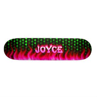 Fuego del rosa del monopatín de Joyce y diseño de  Patinetas Personalizadas