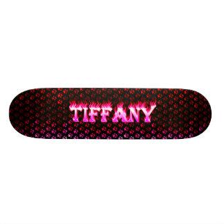 Fuego del rosa del monopatín de Tiffany y diseño d Patin