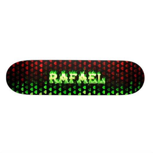 Fuego del verde del monopatín de Rafael y diseño d