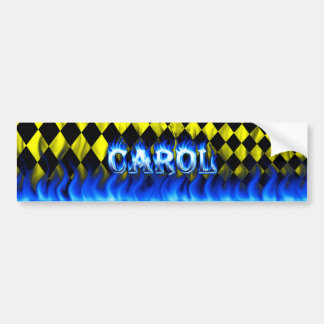Fuego del villancico y diseño azules de la pegatin etiqueta de parachoque