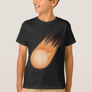 fuego del voleibol playera