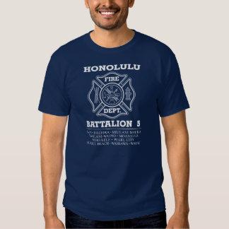 Fuego Dept. Battalion 5 de Honolulu Remeras