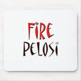 Fuego diseño rojo y negro de Pelosi Alfombrilla De Ratones